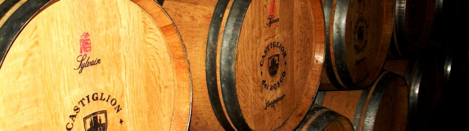 Wine barrels on our Tuscan foodie holiday