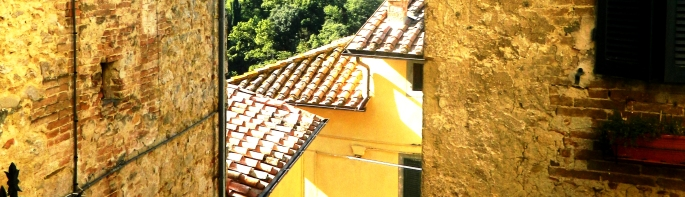 A view from Cetona, the base of our Tuscan gourmet holiday
