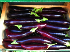 Aubergines- food and wine in Italy at its beautiful best