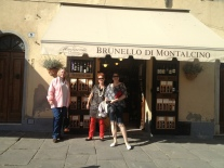 Brunello Tasting on our gourmet tour of Tuscany, 2012