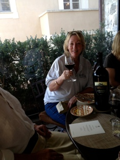 Wine Tasting at lunchtime, gourmet tour of Tuscany, 2012