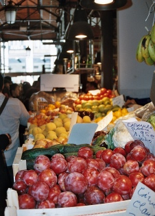 Fresh fruit in Mercado St Miguel on a gourmet weekend break in Madrid